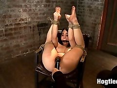Welcome tiny Serena Blair back to Hogtied. This 50 100lb sexy bombshell is as hot as they come....