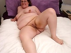 Slutty BBW riding cock with her fat sex holes