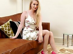 Tonis lovely pointed high heel shoes are always a great attraction for highly sexed men! She...