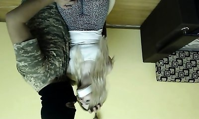 Horny blond amateur fisting her swollen inflated vagina