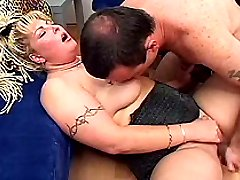 Dude fisting deep and dildo fucking chubby blondies shaved pussy