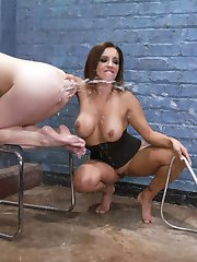 Nora Riley waits in a creepy doctors office, masturbating her asshole. Francesca Le finds her...