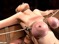 Darling, Katie Kox, and their amazing huge tits are back at Hogtied. If you have ever wondered...