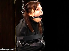 Kiki is strung up like the catch of the day she is. So cute, it makes you want to destroy the...