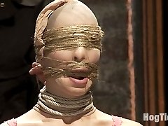 pOne of our best and most seasoned models on HogTied - Amber Rayne returns and gets her ass...