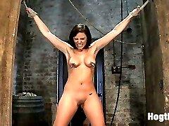 Welcome Brooke Adams to Hogtied. This nubile girl next door is smart, articulate and so innocent...