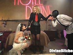 Maitresse Madeline Marlowe brings her new feminized bride to Hotel Divine for their honeymoon...