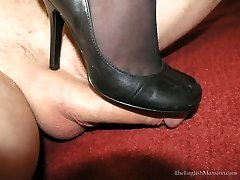 Stocking Worship Footjob
