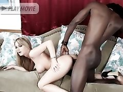 Aline pleasure a huge cock and experiences hardcore fucking in this sinful interracial scene