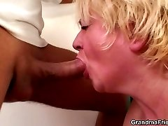 The hot grandma gets drunk and then goes home with the guys for really great hardcore sex