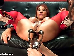 Ava Devine takes two fists in her ass and gets opened up wide with a huge speculum. Ass licking,...