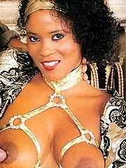 Black retro lady loves cock