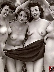 Vintage outdoor hot chicks