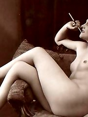 Hot smoking vintage chicks