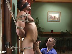 Gorgeous, muscular and covered in beautiful hair, Alex Mecum is a sight to behold as hes bound...