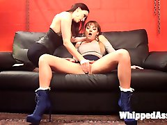 Hot fan girl, Charlotte Cross, begs adult superstar Chanel Preston for submissive lesbian...