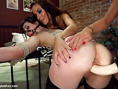 In this sexy and evil lesbian cuckold fantasy roleplay Felony and Katherine play girlfriends at...