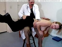 Spanked and humiliated - probing medical examinations and hard bare bottom spankings