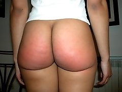 Cute ebony girl is showing her gorgeous round ass