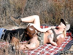 Super hot hair bush babe emma gets her phat juicy box pounded hard and ass penetrated in these...