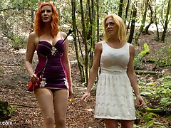 Submissive slut Darling follows Maitresse Madeline Marlowe into the isolated woods of Northern...