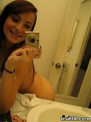 Really nice pics of brunette young girl Missy S. being naughty in the bathroom. Watch and wank...