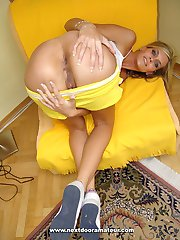 Blonde slut fucked in ass for messy creampie