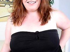 Horny fatty gets her ass cock stuffed