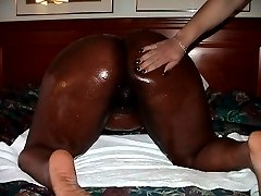 Coco Ebony is a definite must see. Cum see her all oiled up in the nude with her friend as they...