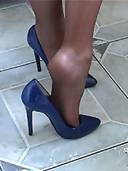 You keep looking at womens shoes like this worn by an attractive lady, then you get that rush of...