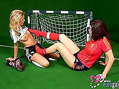 See these lesbian soccer babes