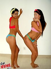 2 super hot little undie stacked teens dance around and later fuck eachother in this hot fucking...
