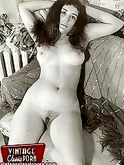 Nude vintage ladies at home