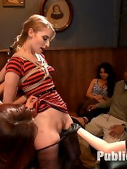 Ela Darling is a demure little cutie- fresh meat for public humiliation. She crawls around in...