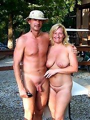 Amateur nudists walking naked