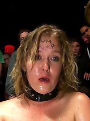 Sasha Knox returns to Public Disgrace to be tied up and whored out at a local San Francisco bar....