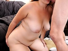 Big butt Latina loves riding cock with her phat ass!