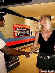 Smoking hot blond gets fucked by a giant black dick