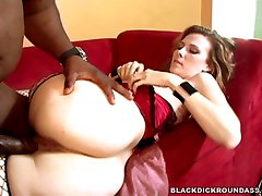White Milf bitch Gets fucked hard by an ebony monster cock