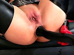 Rubber squirt orgasm