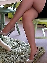 Are you looking at my shoes? says Megan softly. She knows that when you see an attractive lady...