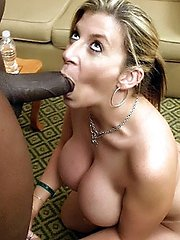 Slutty MILF wife Sara Jay shows off her big tits and goes black for the nth time