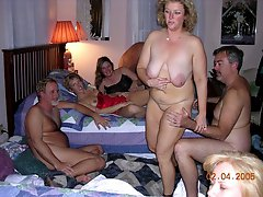 gang bang at swingers party
