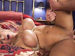 When Jasmins slutty mom tries to seduce her step daughters sheepish boyfriend, she unleashes his...