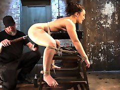 Gabby is back and looking hot as fuck! She is put straight into bondage and made helpless for...