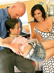 Horny hotties get deep dicked by one lucky guy