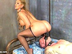 Unsuspecting D. Arclyte awaits expert punishment at the Hotel Divine where Mistress Cherie...