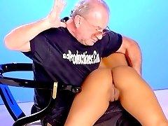 Heavenly babe - big tits and ass - shamefully exposed spanking punishment
