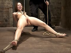 Welcome Remy LaCroix to Hogtied. This cute as a kitten girl did her first ever shoot with Kink....