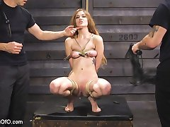 Beautiful and masochistic trainee Samantha Hayes is trained by sadistic slave trainers to fuck...